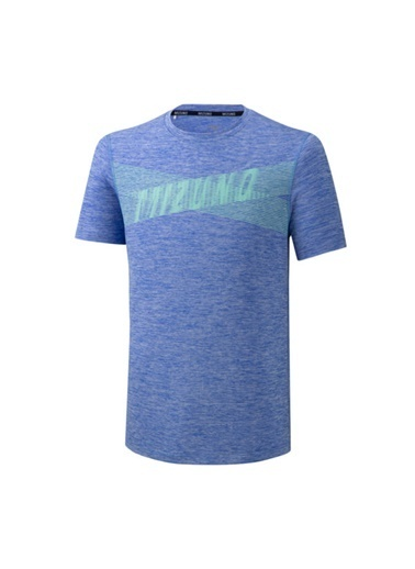 Mizuno Core Graphic Tee Unisex T-Shirt Mavi Mavi
